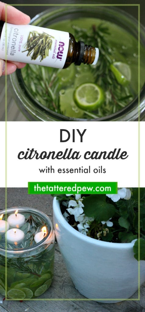 DIY Citronella Candles with Essential Oils www.thetatteredpew.com