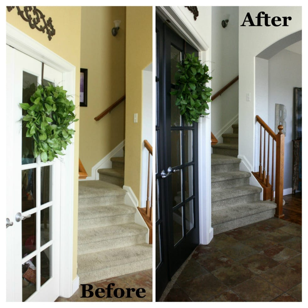 White is the new blacka total interior transformation the painting our french doors was the best decision we made and it is my favorite part of this transformation the tricorn black gave them new life and adds the planetlyrics Image collections