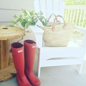 Front porch hunter boots