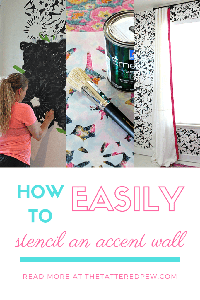 Hw to easily stencil an accent wall!