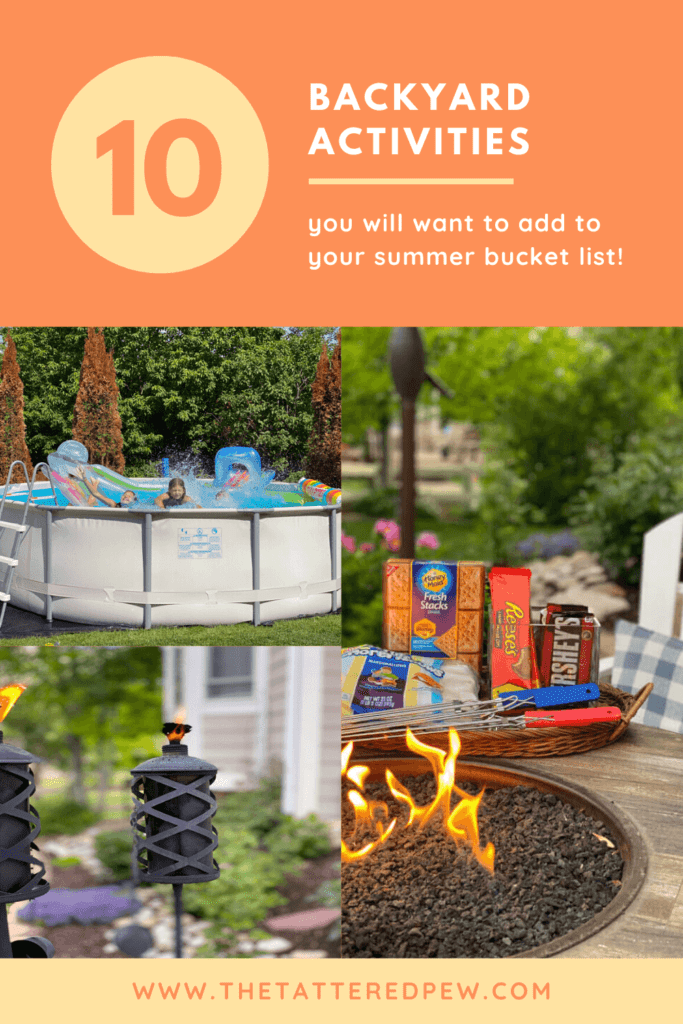 Add these 10 backyard activities to your summer bucket list!