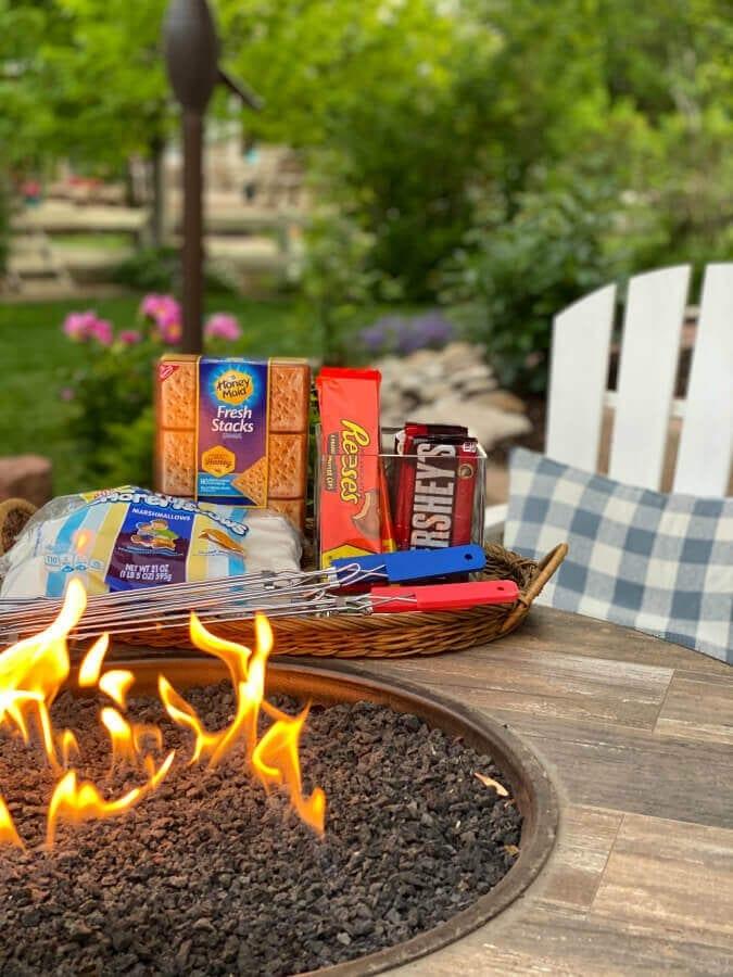 S'mores are always a good idea for backyard summer fun!