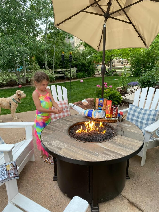 We love using our fire pit in the summer during the evening!