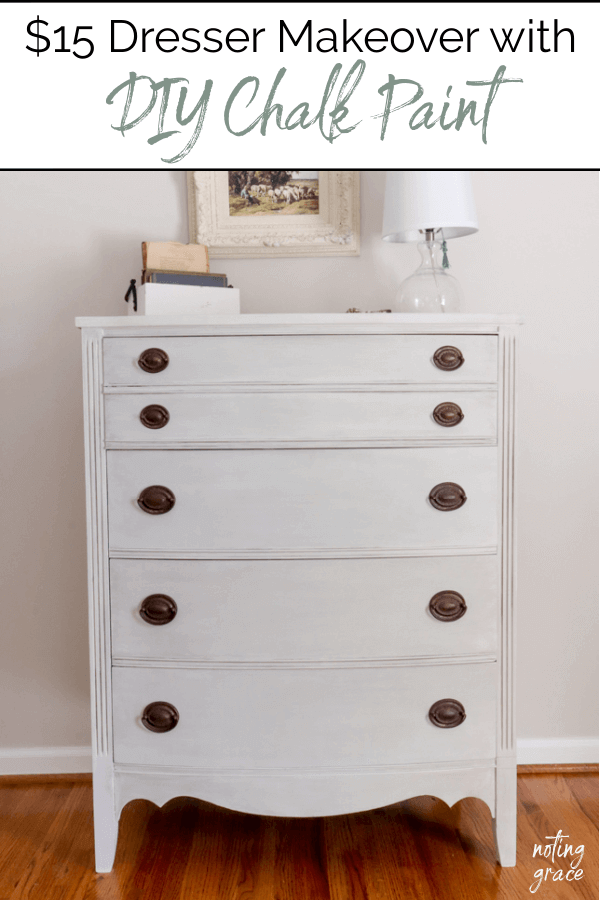Welcome Home Sunday: $15 dresser makeover with DIY chalk paint