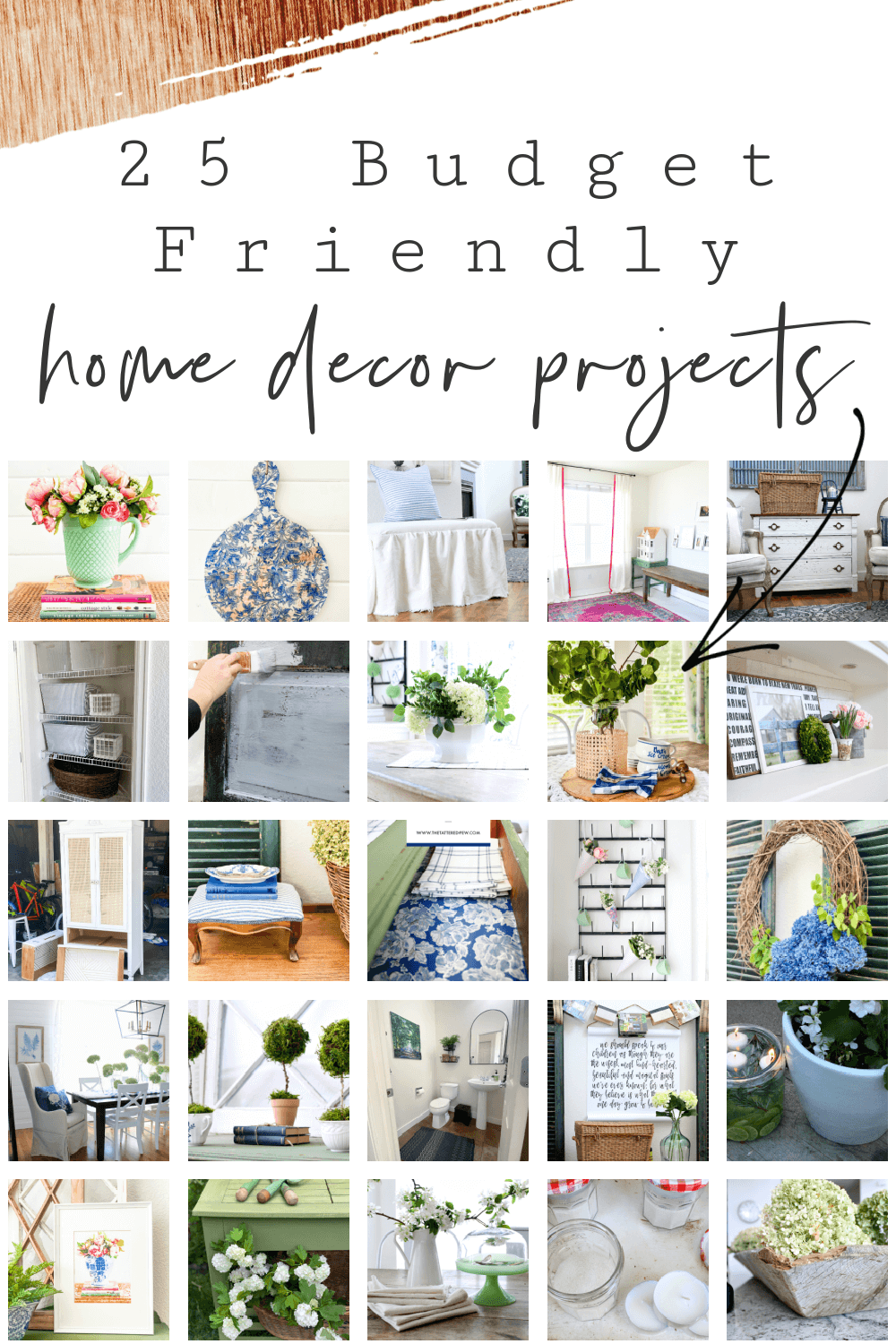 Looking for an easy project? Try these 25 budget friendly home decor ideas!