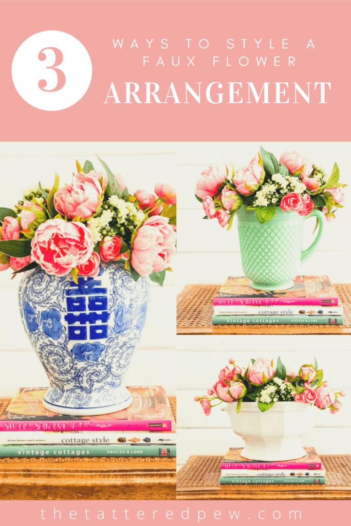Check out the threeand creative ways to style faux flowers.