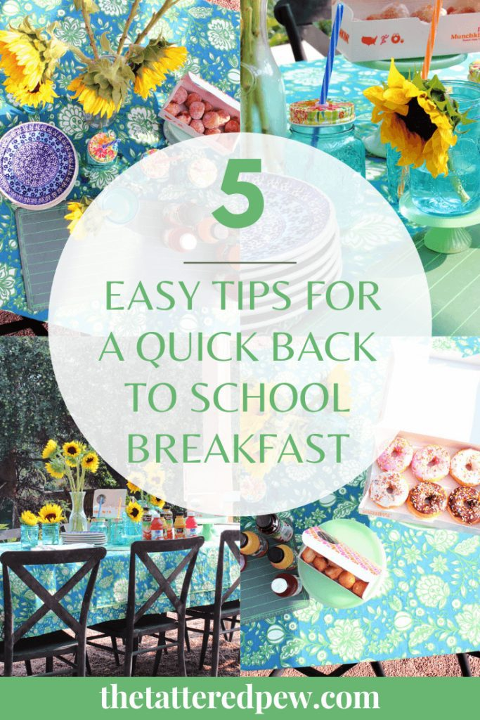 5 Easy tips for a quick back to school breakfast outdoors!