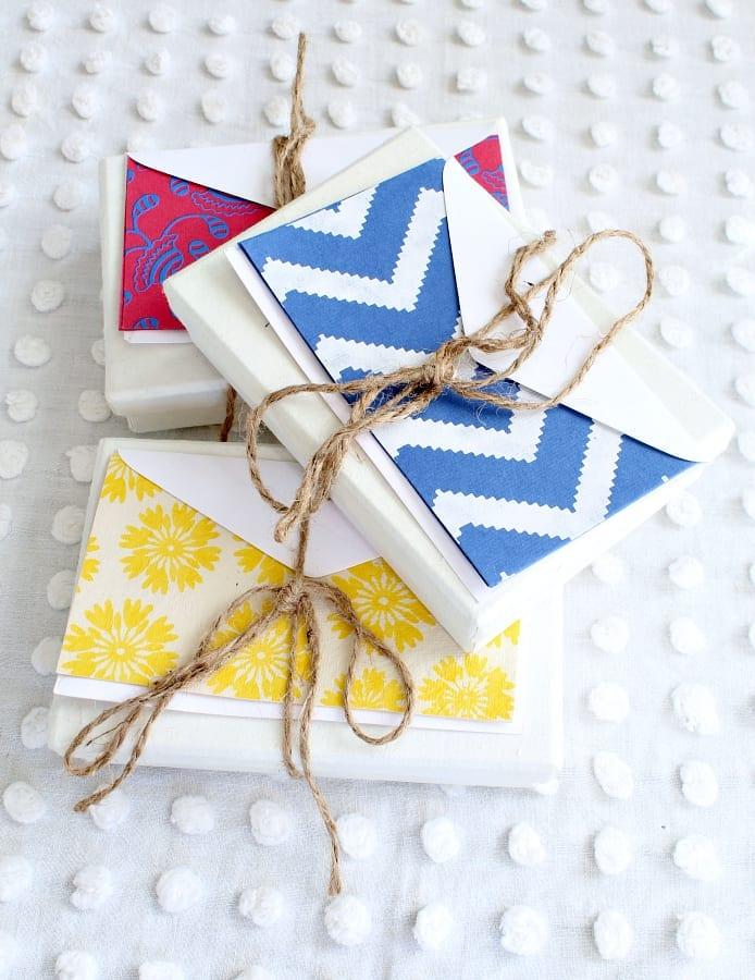 Handmade statioary is a great Valentines' gift idea!