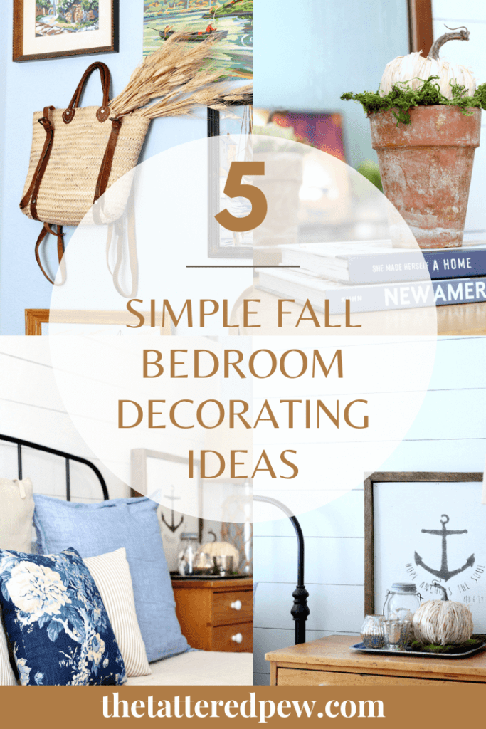 Come over to the blog to learn my 5 favorite simple fall bedroom decorating ideas!