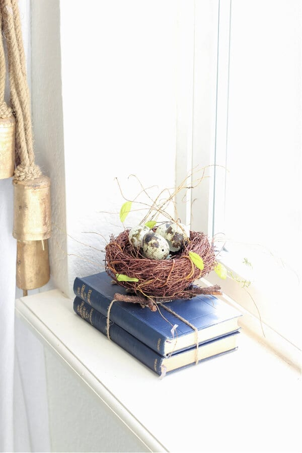 Adding nests to your decor is a simple way to welcome in Spring!