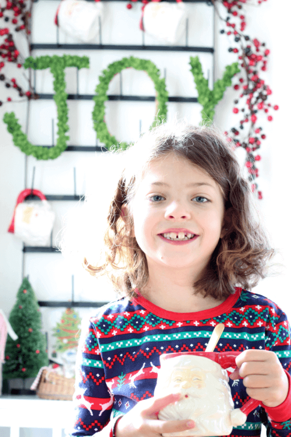 Our family loves sharing the tradition of hot cocoa, popcorn and a good movie!