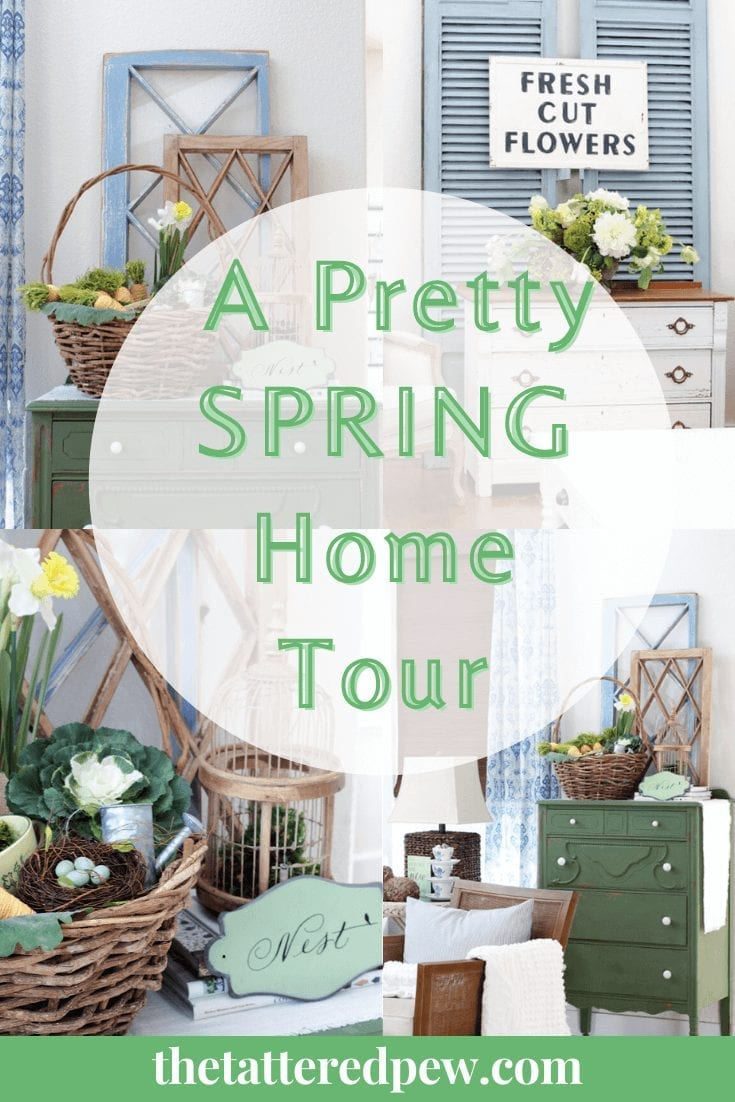 Welcome to our pretty Spring home tour! Here you will find a mix of old and new decor to inspire you as you decorate for Spring!
