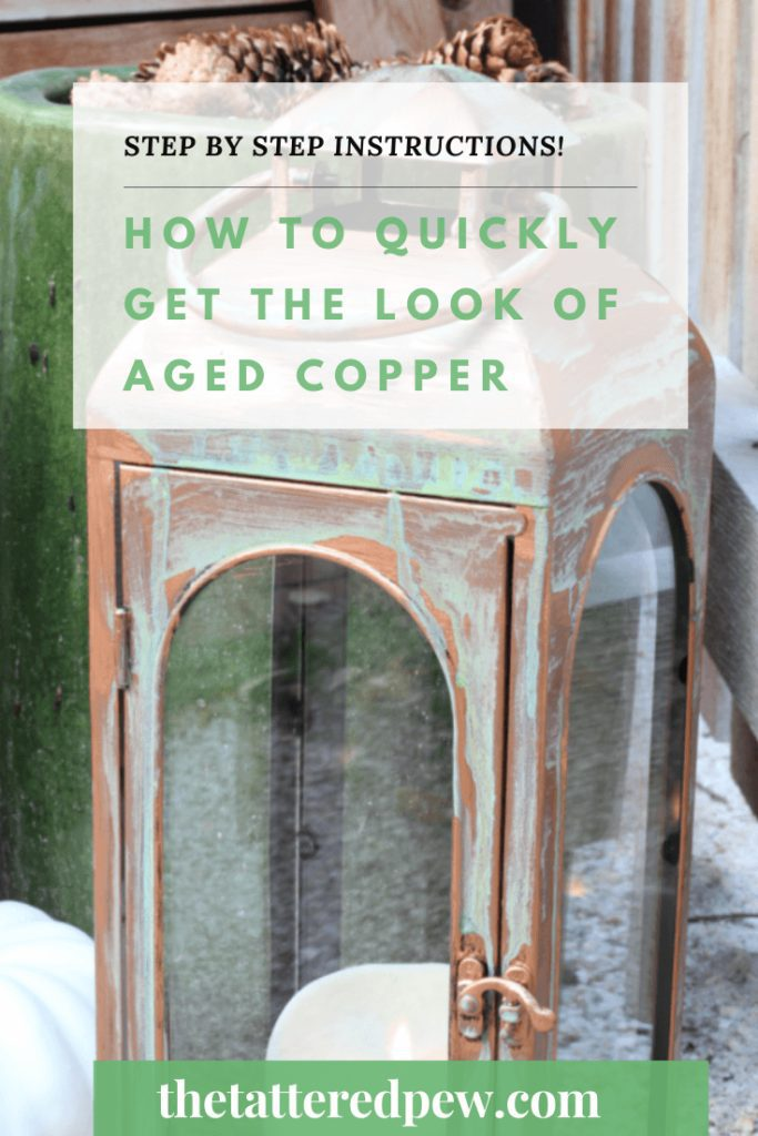 Love copper with patina? :earn how to quickly get the look of aged copper on a budget!