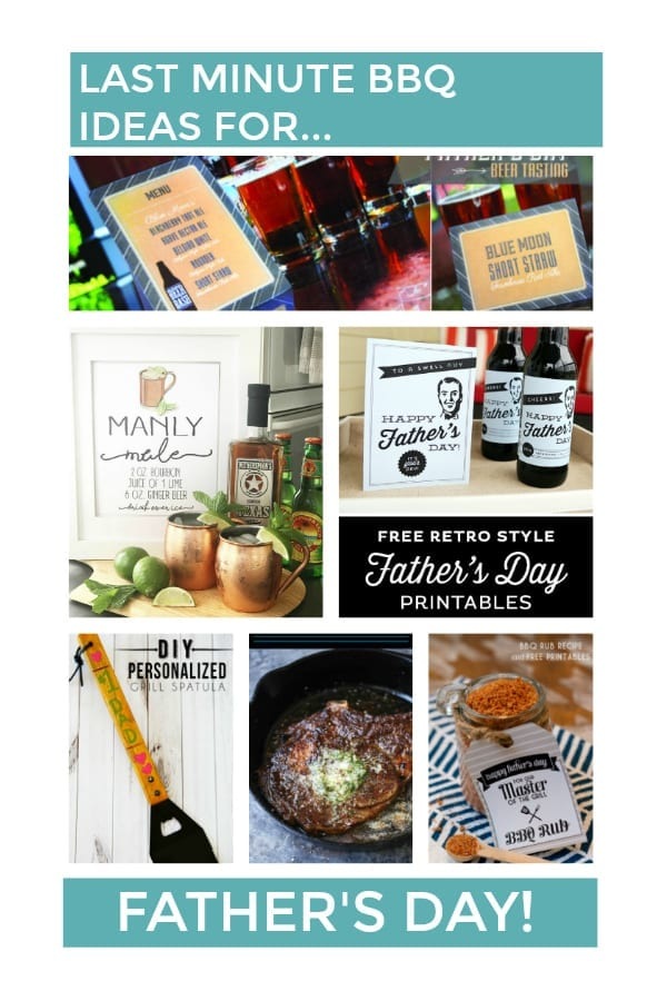 Last Minute BBQ Ideas for Father's Day!