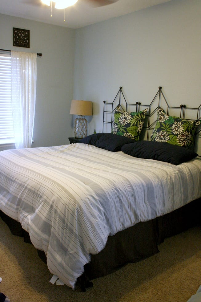 Our bedroom before our coastal cottage makeover!