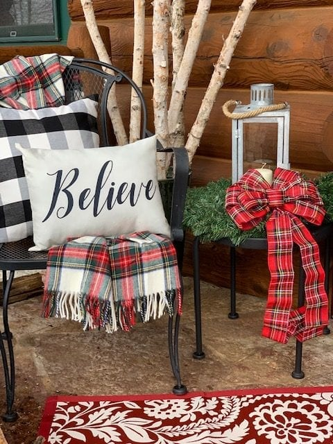 Christmas Believe Porch