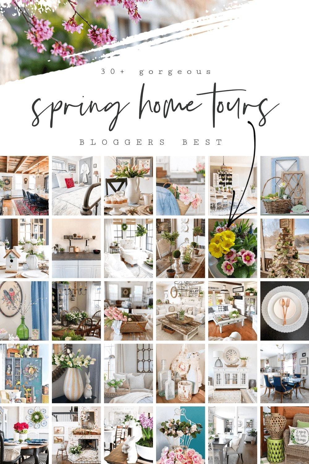Check out the Bloggers Best SPring Home Tours featuring over 30 of your favorite home décor bloggers homes!