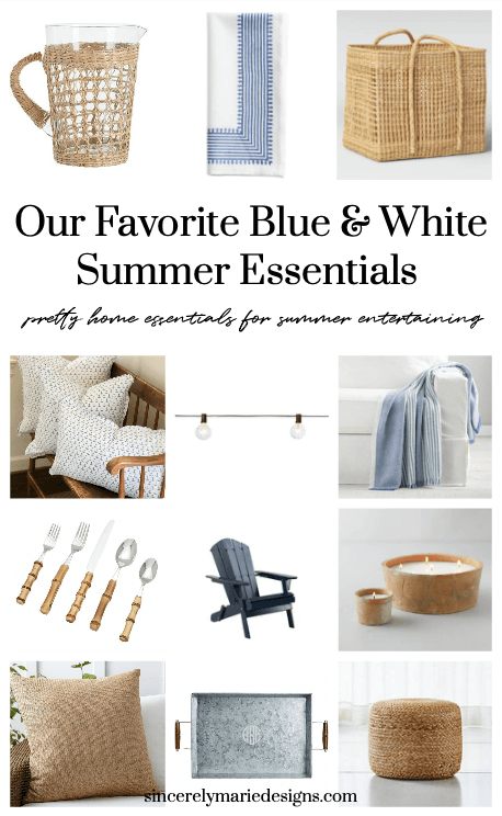 Welcome Home Sunday: Blue and white summer decor essentials