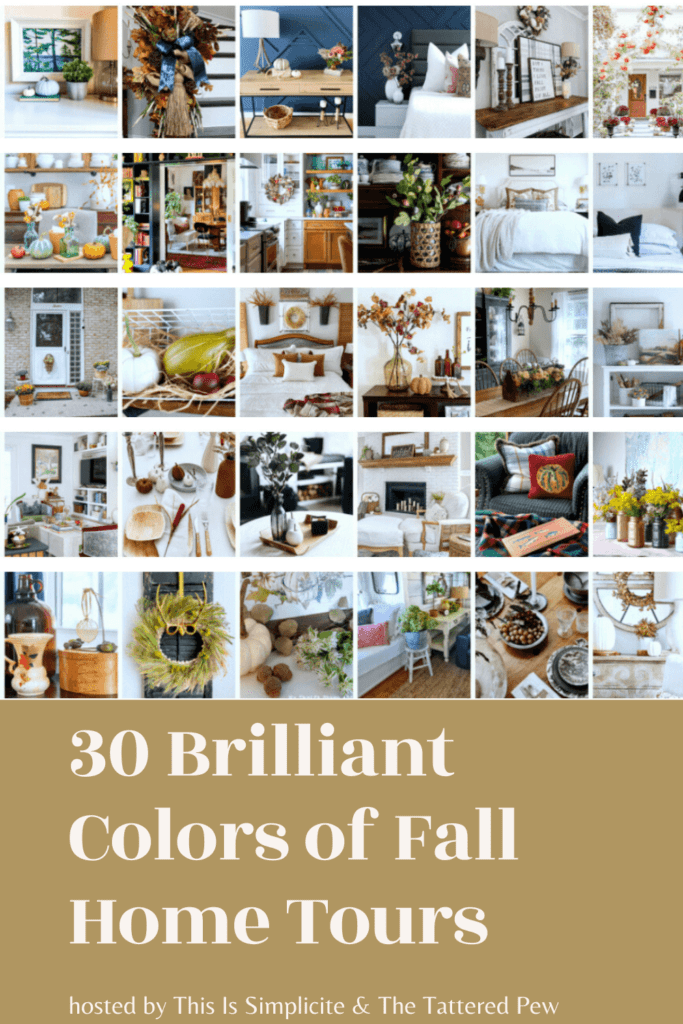 Come take a look into 30 Brilliant Colors of Fall Home Tours!