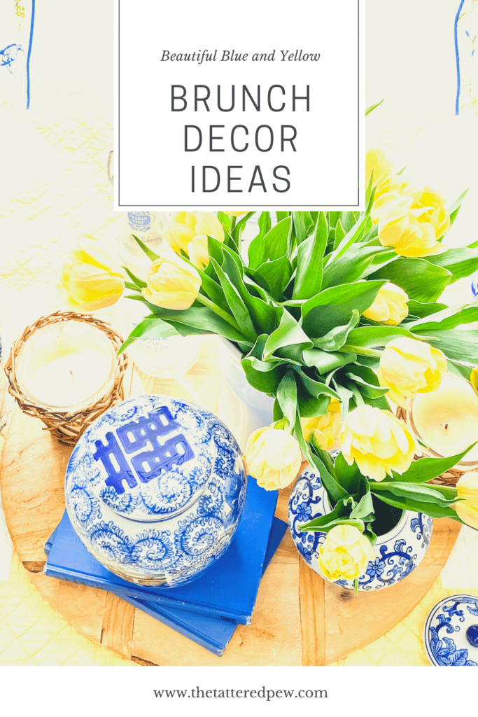 Blue and yellow brunch decor items perfect for any table!