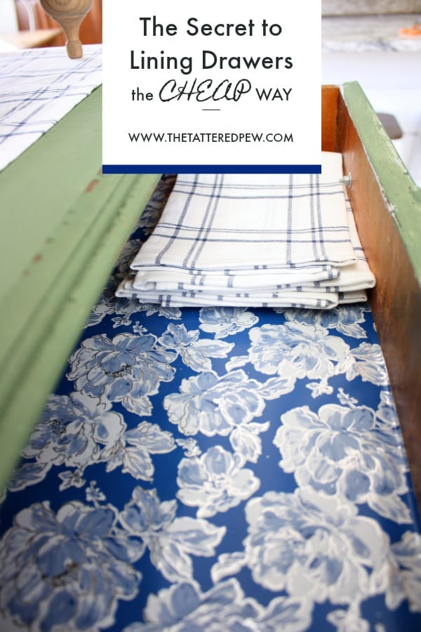 The secret tip to lining your drawers the cheap way!
