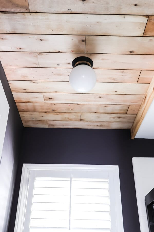 Welcome Home Sunday: Ceiling planks from laminate flooring