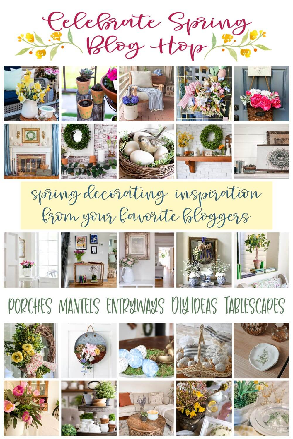 Check out 24 home decor bloggers Celebrating Spring in their homes!