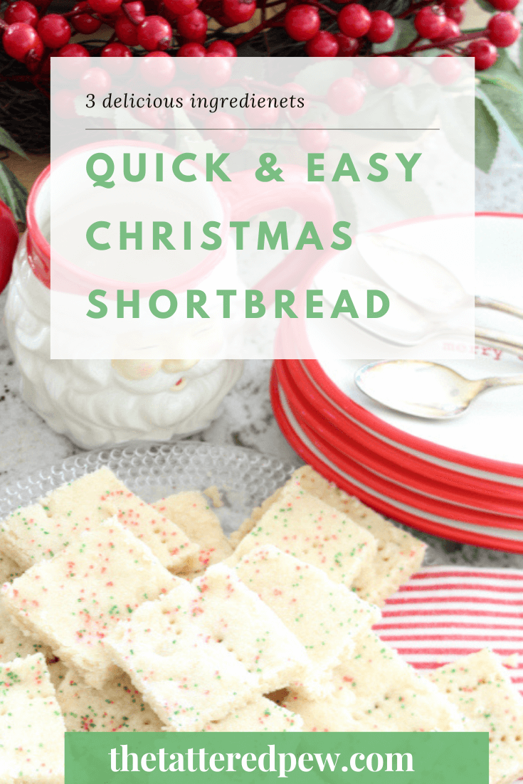 You will want to try these quick and easy Christmas Shortbread Cookies!