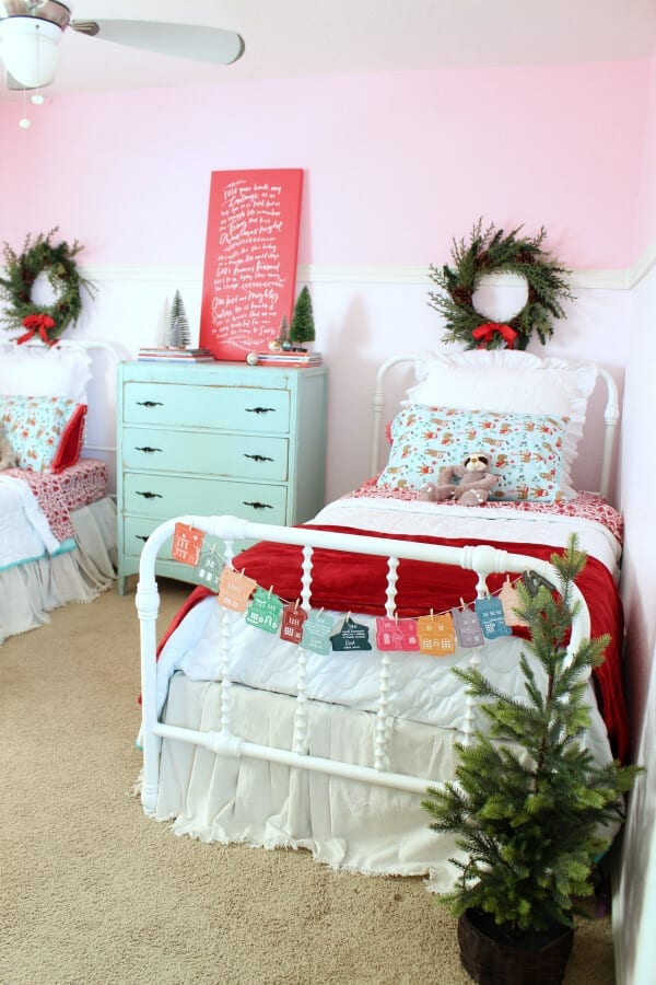 Christmas in my daughter's room is just magical!