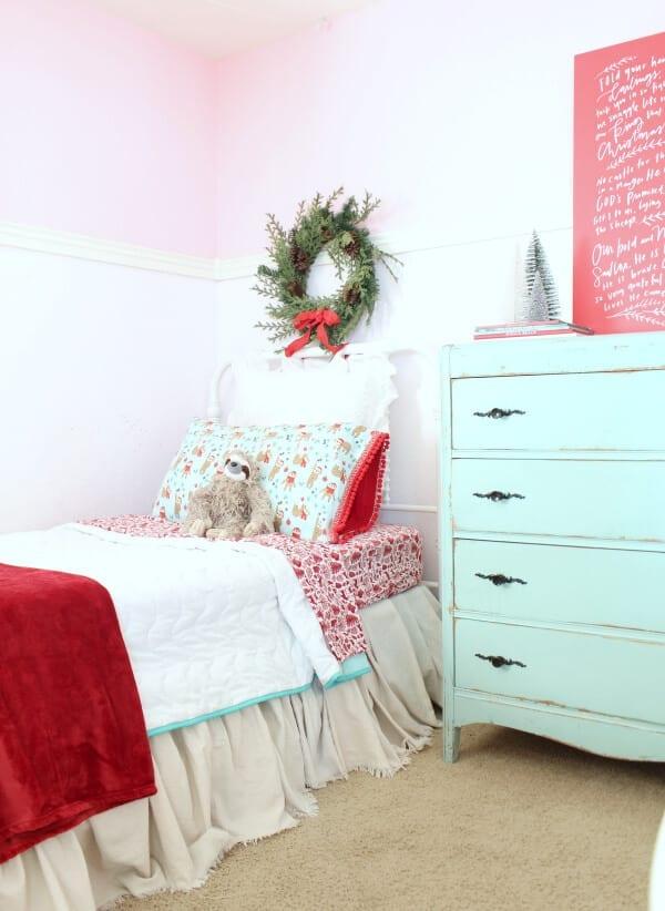 Christmas bedding in my daughter's room!