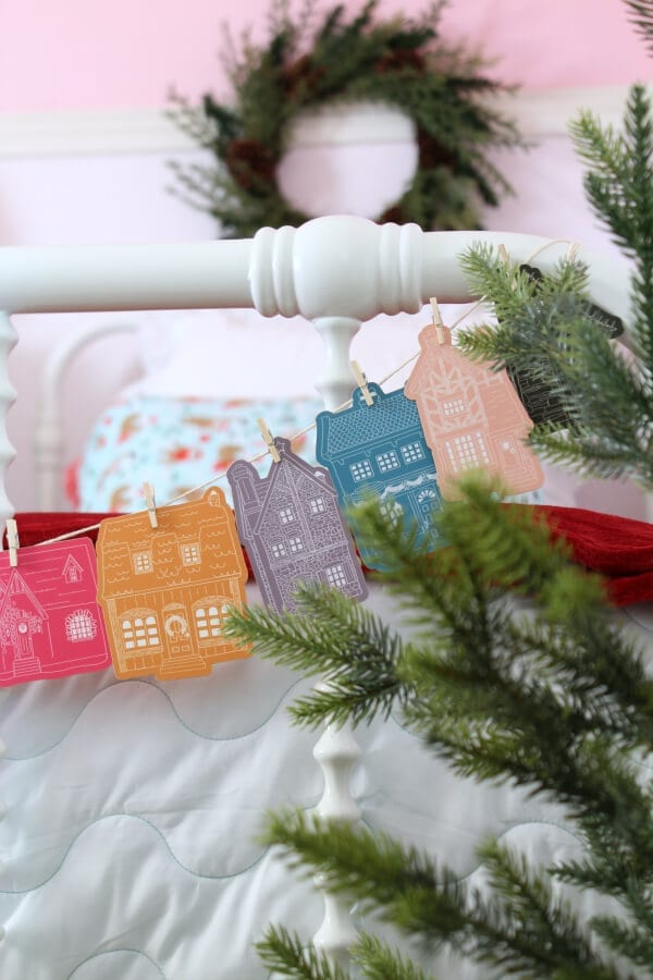Service focused colorful Advent cards make this bedroom pop with color!