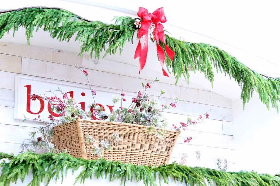 My favorite faux cedar garland from Afloral!