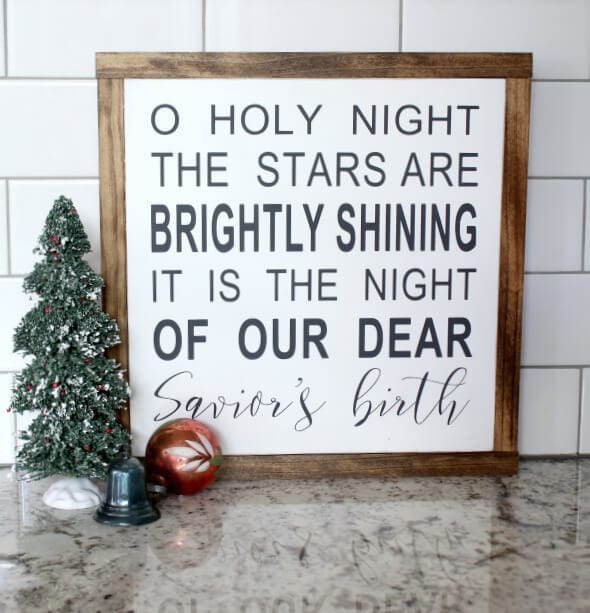 My favorite O Holy Night sign.
