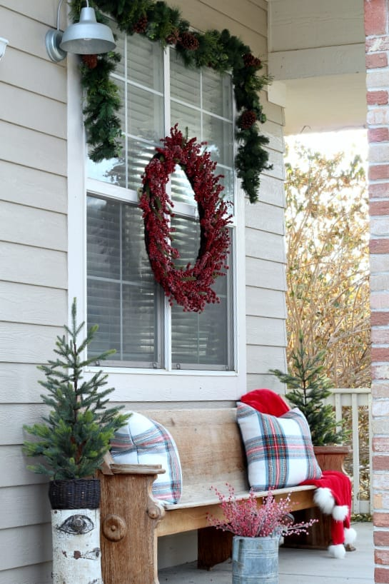 Christmas on the porch in Colorado.