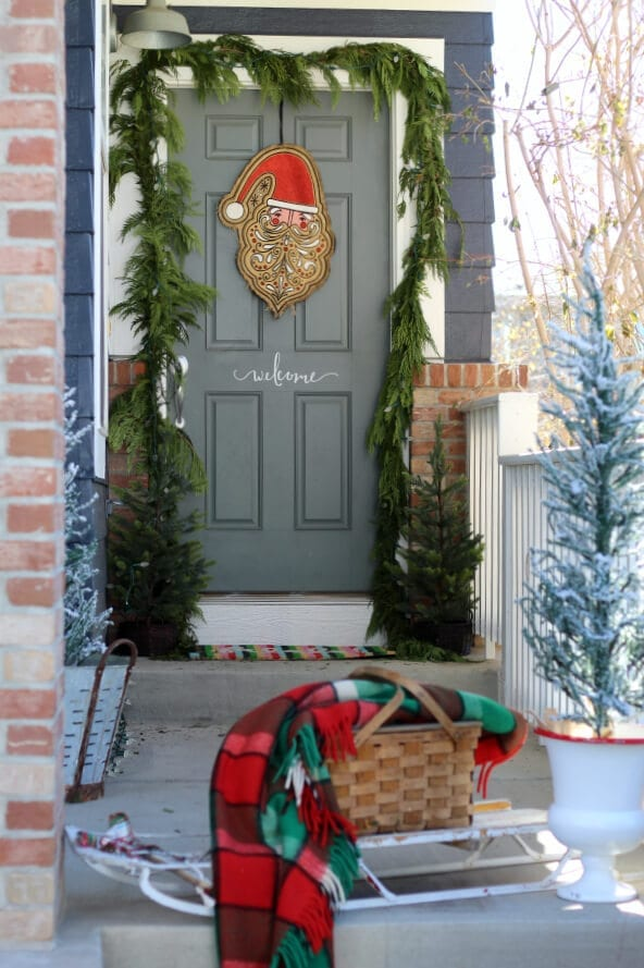 Welcome to Christmas on our porch!