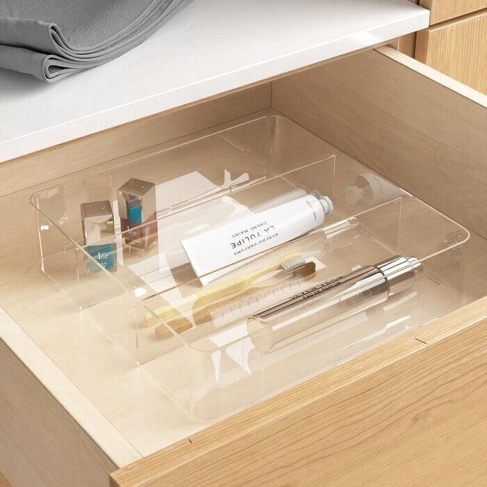 Clare drawer organizer from wayfair. Perfect for your bathroom drawers!