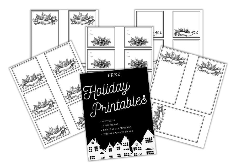 Holiday Printables Bundle