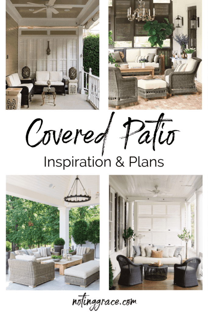 Welcome Home Sunday: Covered Patio Inspiration and Plans