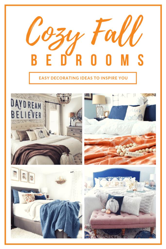 4 cozy Fall bedroom decorating ideas.