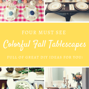 DIY Fall tablescapes full of color!