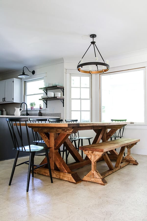 Welcome Home Sunday: DIY Restoration Hardware inspired dining table.