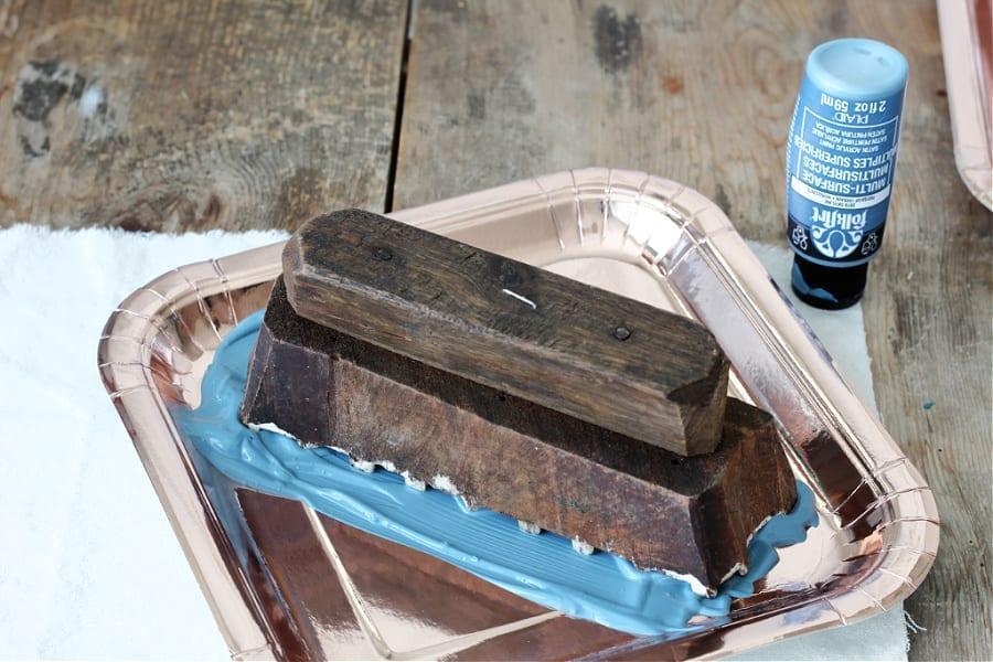 DIY block printing with vintage blocks