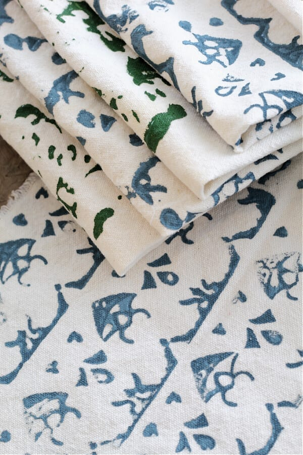DIY Block Printing On Fabric