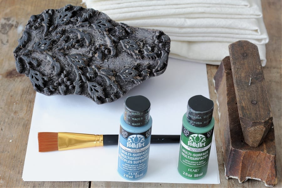 Learn how easy it is to do DIY block printing on fabric with these tools.