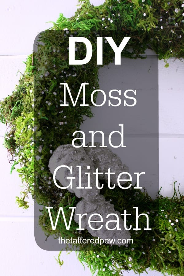 The perfect DIY moss and glitter wreath that anyone can do.