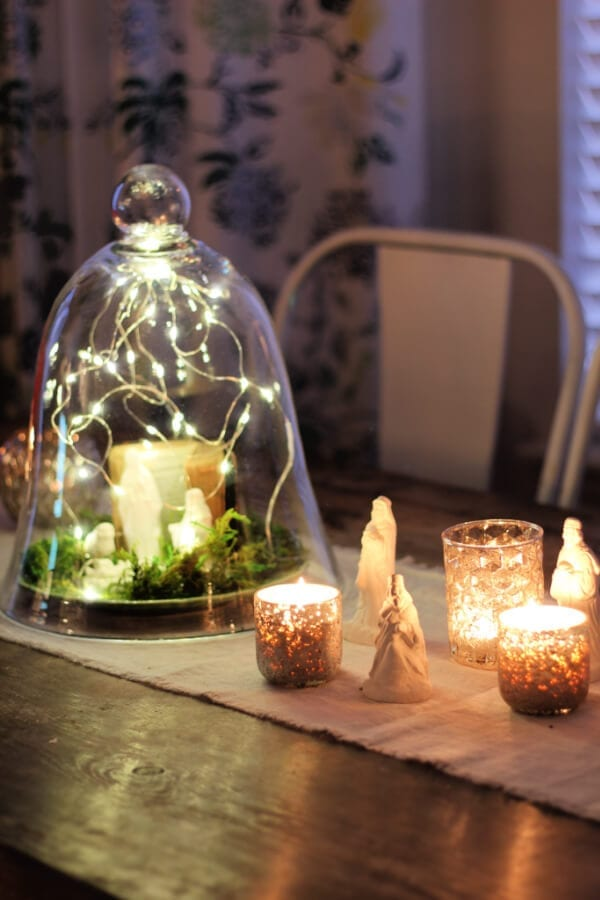 DIY Nativity Centerpiece perfect for the night!