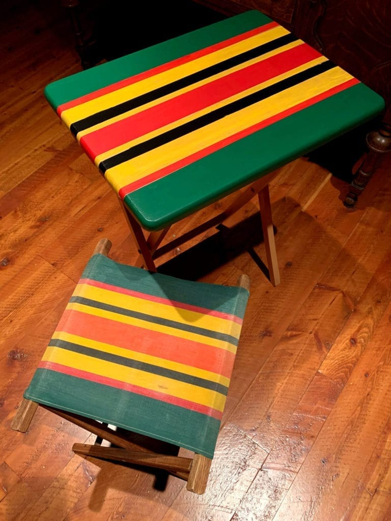 Welcome Home Sunday: Painted TV trays