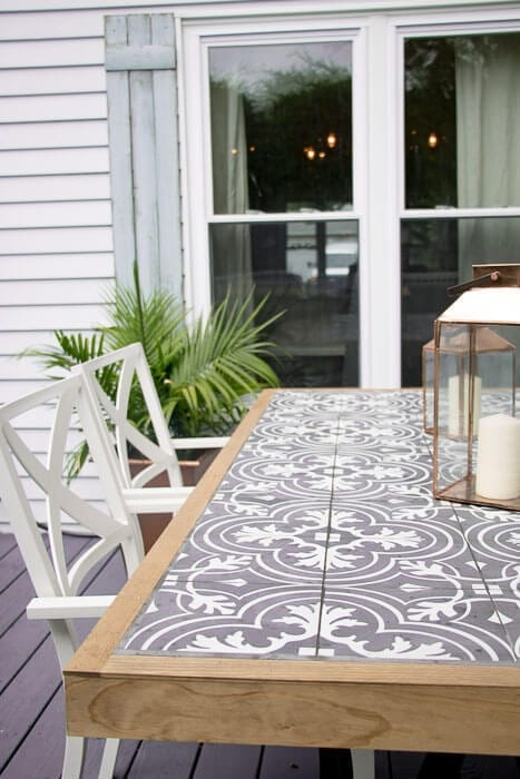 Welcome Home Sunday: DIY tile tabletop