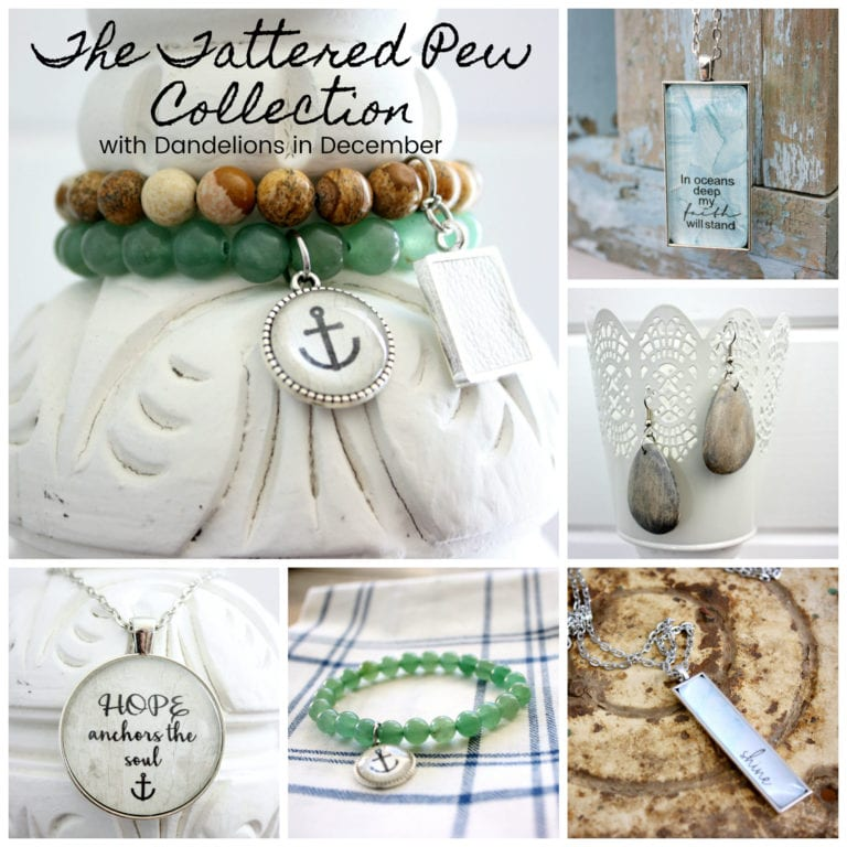 The Tattered Pew Jewelry Collection! Jadeite, Driftwood and Sea Glass