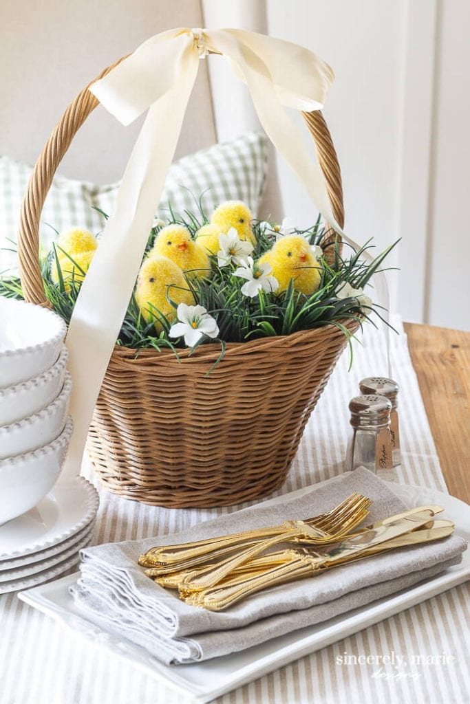 Welcome Home Sunday: Easter basket centerpiece two ways